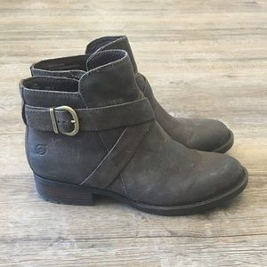 NWB Born Trinculo Distressed Leather Booties, 7.5
